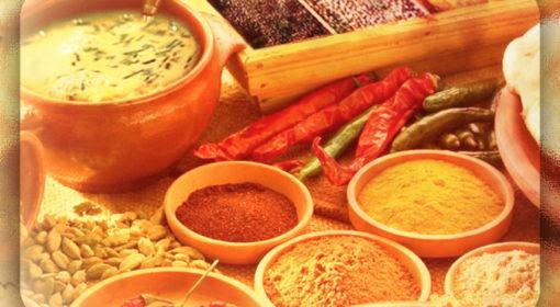 Церемония приготовления индийской массалы