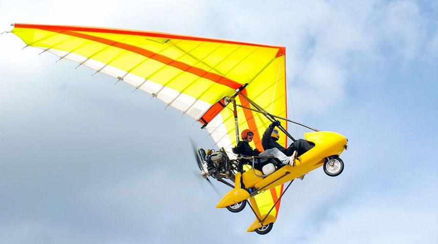 Полет на мотодельтаплане 15мин
