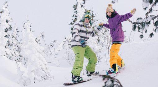Урок катания на сноуборде